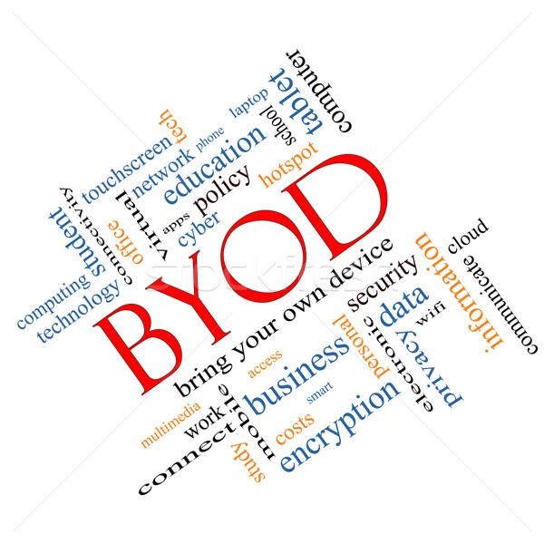 BYOD Word Cloud Concept Angled Stock photo © mybaitshop
