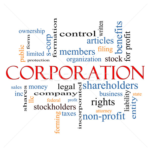 Corporation Word Cloud Concept Stock photo © mybaitshop