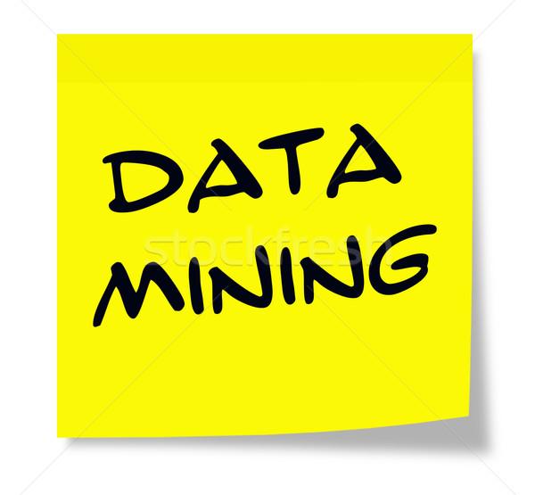 Zdjęcia stock: Danych · wydobycie · żółty · karteczkę · napisany