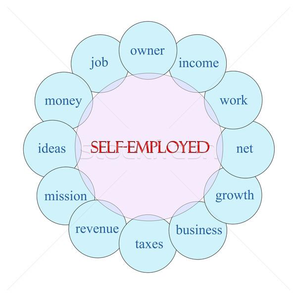 Körkörös szó diagram rózsaszín kék nagyszerű Stock fotó © mybaitshop