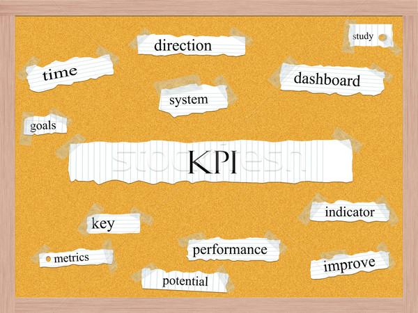 KPI Corkboard Word Concept Stock photo © mybaitshop
