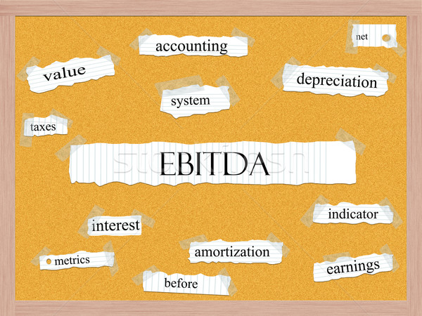 EBITDA Corkboard Word Concept Stock photo © mybaitshop