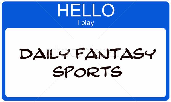 Hello grać codziennie fantasy sportowe niebieski Zdjęcia stock © mybaitshop