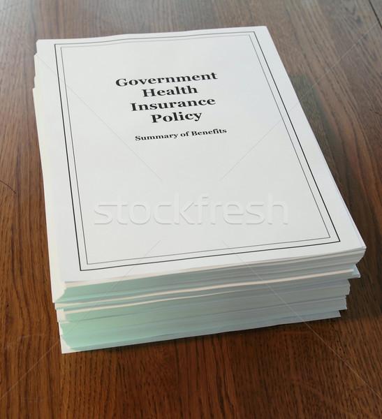 政府 健康保険 デスク 改革 ストックフォト © mybaitshop