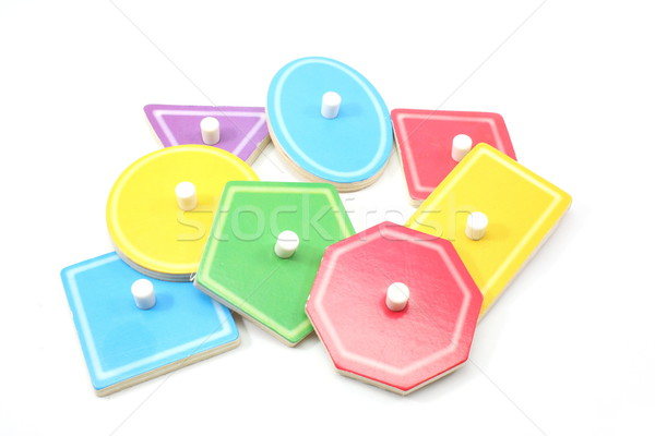 Childrens Puzzle Shapes and Colors Stock photo © mybaitshop