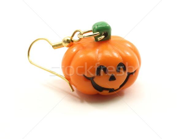 Dynia kolczyk pomarańczowy zielone czarny biżuteria Zdjęcia stock © mybaitshop