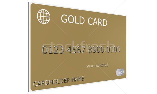 3D Gold Credit Card Stock photo © mybaitshop