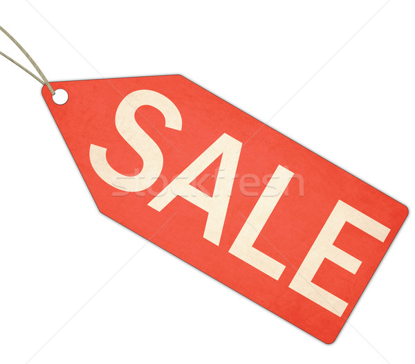 Sale Red Tag and String Stock photo © mybaitshop