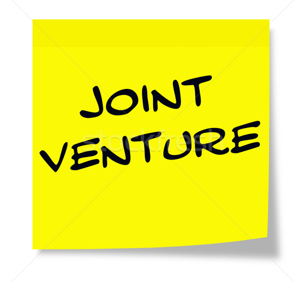 Joint Venture Sticky Note Stock photo © mybaitshop