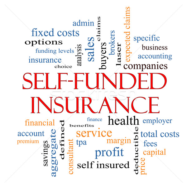 Self Funded Insurance Word Cloud  Stock photo © mybaitshop
