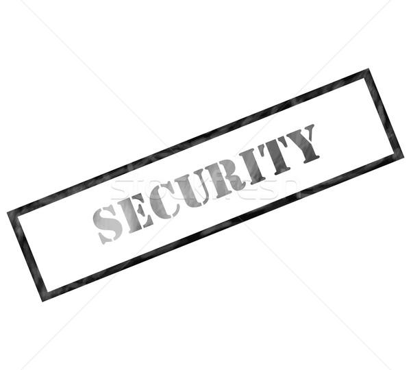 Nero rettangolo sicurezza timbro intemperie inchiostro Foto d'archivio © mybaitshop