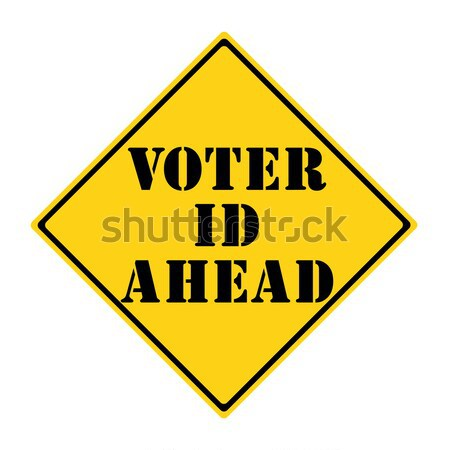 Voter ID Ahead Sign Stock photo © mybaitshop