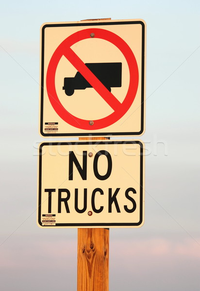 No Trucks Allowed Sign Stock photo © mybaitshop
