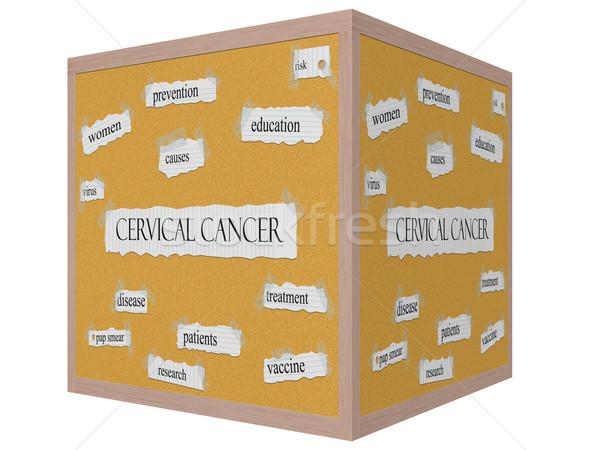 Cervical Cancer 3D cube Corkboard Word Concept Stock photo © mybaitshop