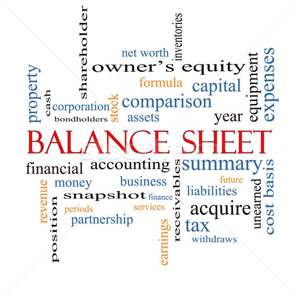 Balance Sheet Word Cloud Concept Stock photo © mybaitshop