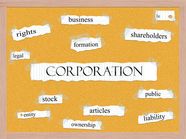 Corporation Corkboard Word Concept Stock photo © mybaitshop