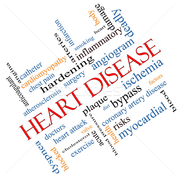 Heart Disease Word Cloud Concept Angled Stock photo © mybaitshop
