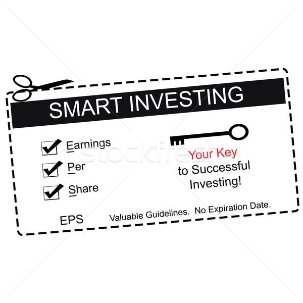 Eps okos befektetés fekete utalvány kereset Stock fotó © mybaitshop