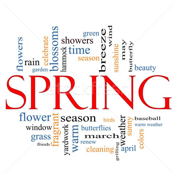 Spring Word Cloud Concept Stock photo © mybaitshop
