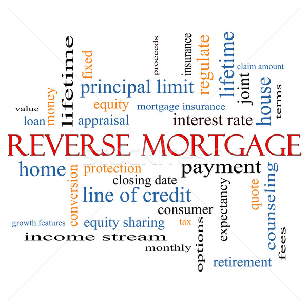 Hypothek Wort-Wolke groß Bezahlung Gerechtigkeit zitieren Stock foto © mybaitshop