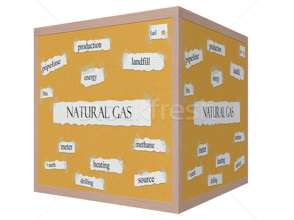 Natural Gas 3D cube Corkboard Word Concept Stock photo © mybaitshop