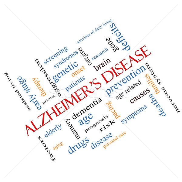 Alzheimer's Disease Word Cloud Concept Angled Stock photo © mybaitshop