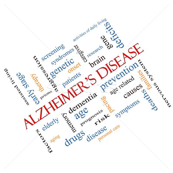 Maladie d'alzheimer nuage de mots magnifique âgées génétique démence Photo stock © mybaitshop