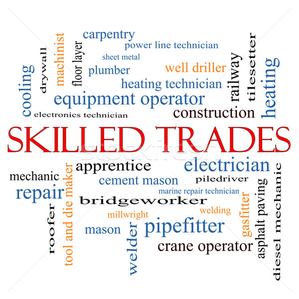 Skilled Trades Word Cloud Concept Stock photo © mybaitshop