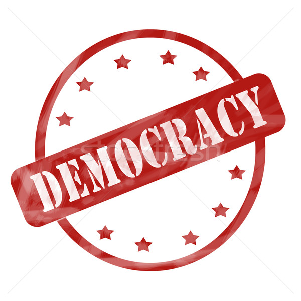 赤 風化した 民主主義 スタンプ サークル 星 ストックフォト © mybaitshop