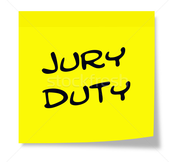 Jury Duty Sticky Note Stock photo © mybaitshop