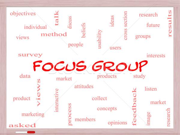 Groupe de discussion nuage de mots magnifique recherche utilisateurs Photo stock © mybaitshop