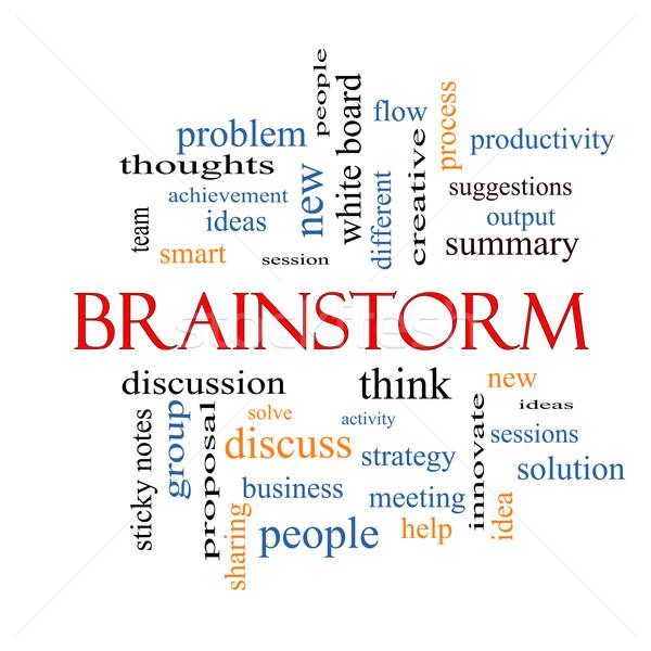 Brainstorm Word Cloud Concept Stock photo © mybaitshop