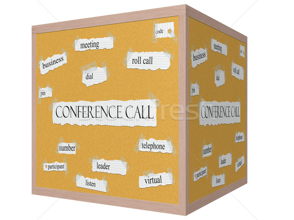 Conference Call 3D Corkboard Word Concept Stock photo © mybaitshop
