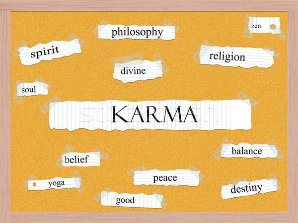 Karma szó nagyszerű vallás zen egyensúly Stock fotó © mybaitshop