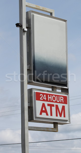24 Hour ATM Sign with Blank Space Stock photo © mybaitshop