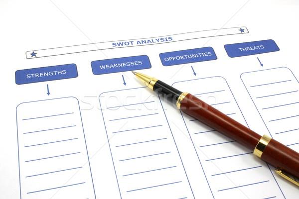 SWOT Analysis with Pen Stock photo © mybaitshop