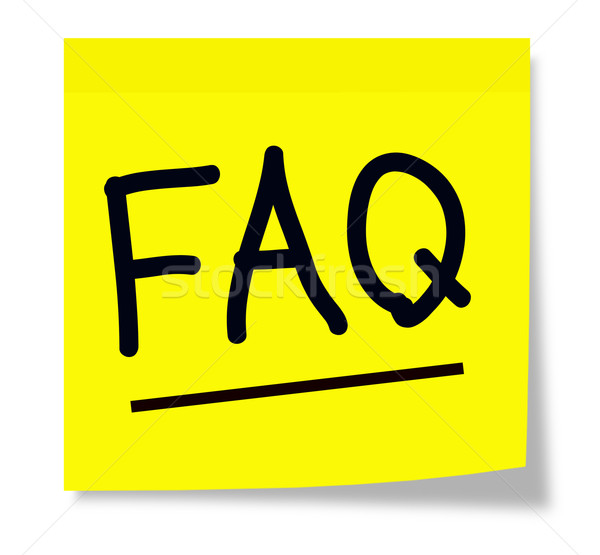 FAQ on Yellow Sticky Note Stock photo © mybaitshop