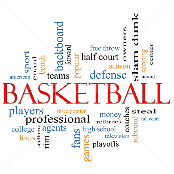 Basketball Word Cloud Concept Stock photo © mybaitshop