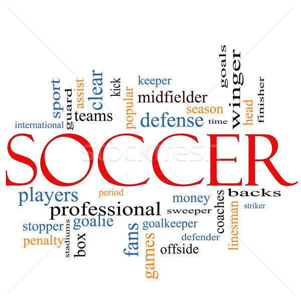 Soccer Word Cloud Concept Stock photo © mybaitshop