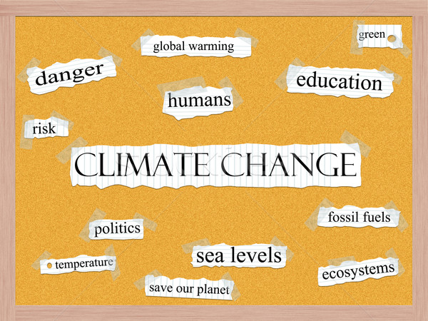 Climate Change Corkboard Word Concept Stock photo © mybaitshop