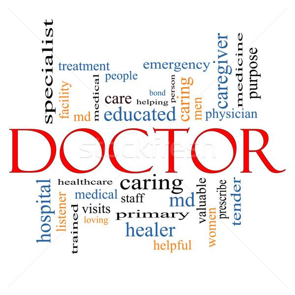 Doctor Word Cloud Concept Stock photo © mybaitshop