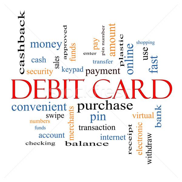 дебетовая карточка слово облако оплата Pin больше Сток-фото © mybaitshop