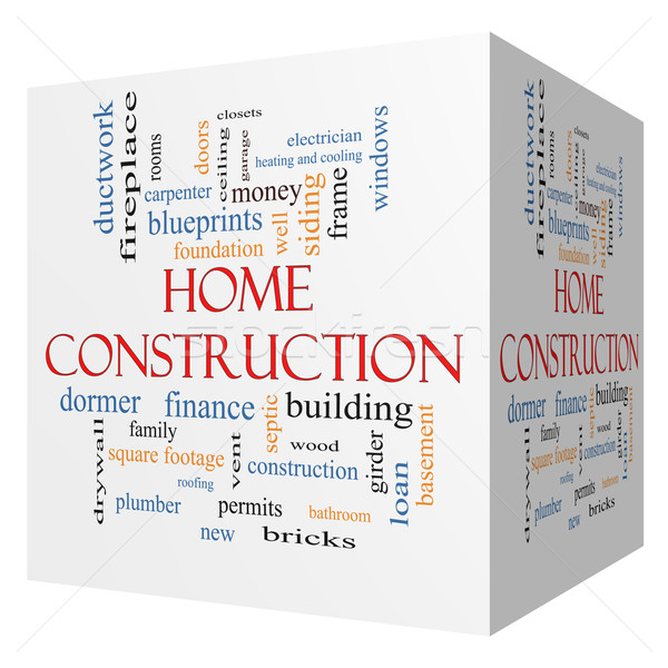 Home Construction 3D cube Word Cloud Concept Stock photo © mybaitshop