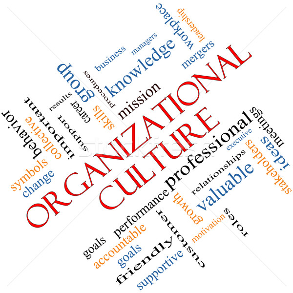 Organizational Culture Word Cloud Concept Angled Stock photo © mybaitshop