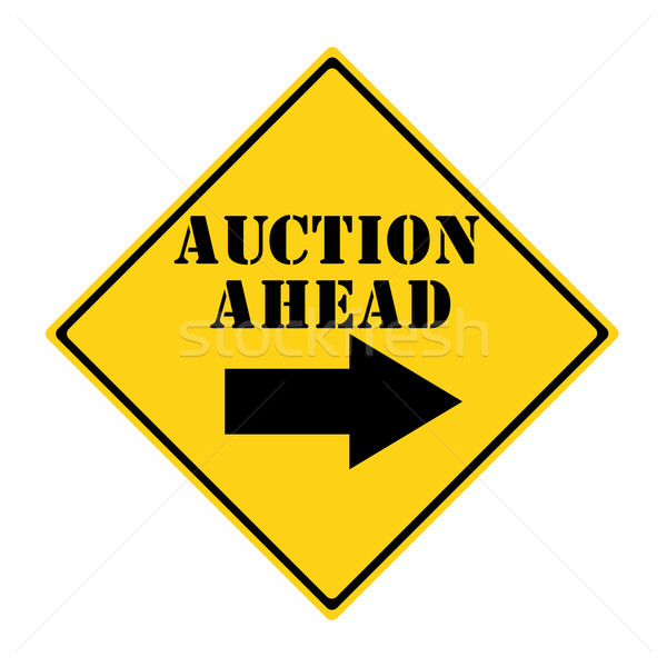 аукционе впереди знак желтый черный Diamond Сток-фото © mybaitshop