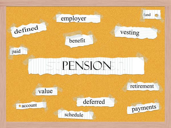 Pension Corkboard Word Concept Stock photo © mybaitshop