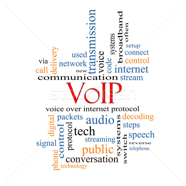 VOIP Word Cloud Concept Stock photo © mybaitshop