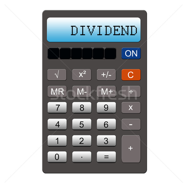 Dividend on Calculator Stock photo © mybaitshop
