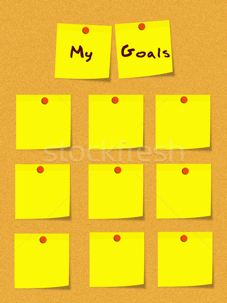 Meu amarelo notas boletim conselho Foto stock © mybaitshop