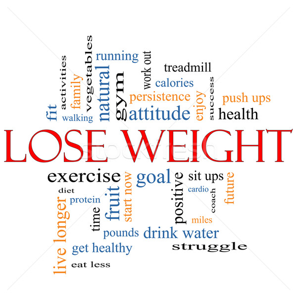 Lose Weight Word Cloud Concept Stock photo © mybaitshop